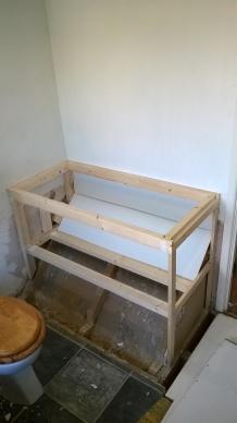 Bespoke basin cabinet frame