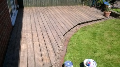 Decking before staining