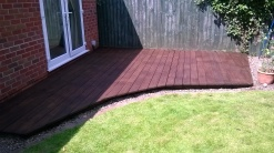 Decking after staining