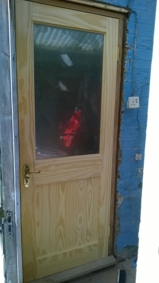 Exterior door fitted