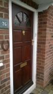 Restained front door