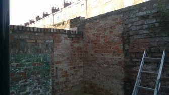 Garden wall - levelled off