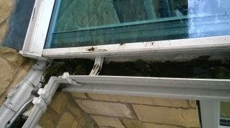 Guttering - blocked - before