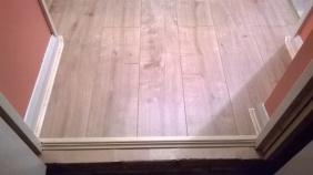 Laminate flooring, finished into garage