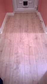 Laminate flooring - in hallway with edge beading