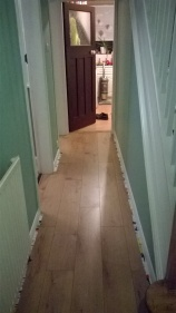 Laminate flooring - in hallway