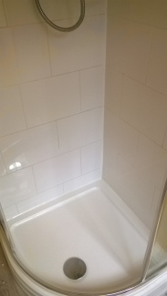 Silicone work in shower - after