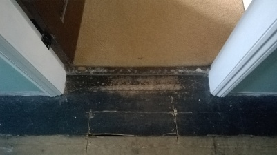 Traditional door threshold - before