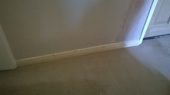 Skirting board replaced
